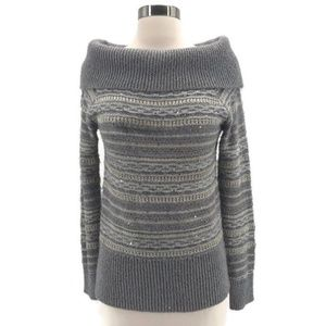White House Black Market Metallic Thread Sweater